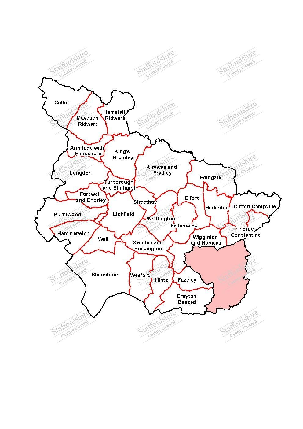 Map of Lichfield