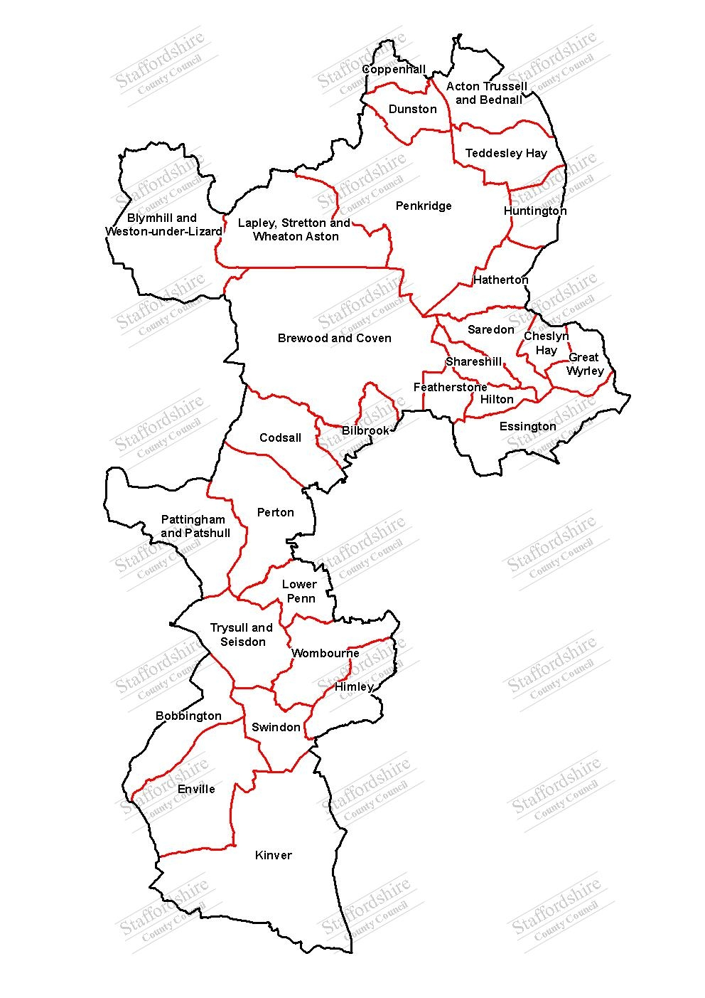 Map of South Staffordshire